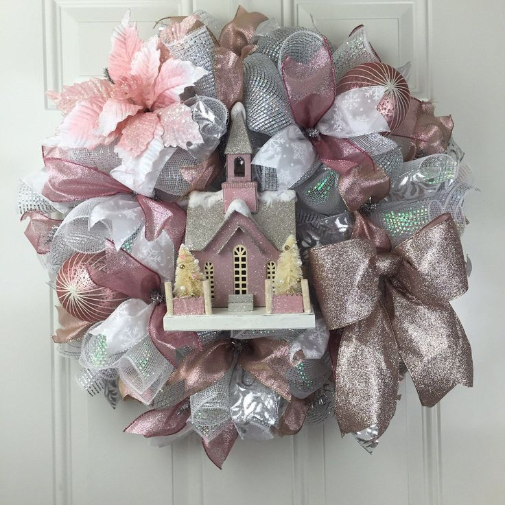 A personal favorite from my Etsy shop https://www.etsy.com/listing/479080878/rose-gold-christmas-wreath-christmas