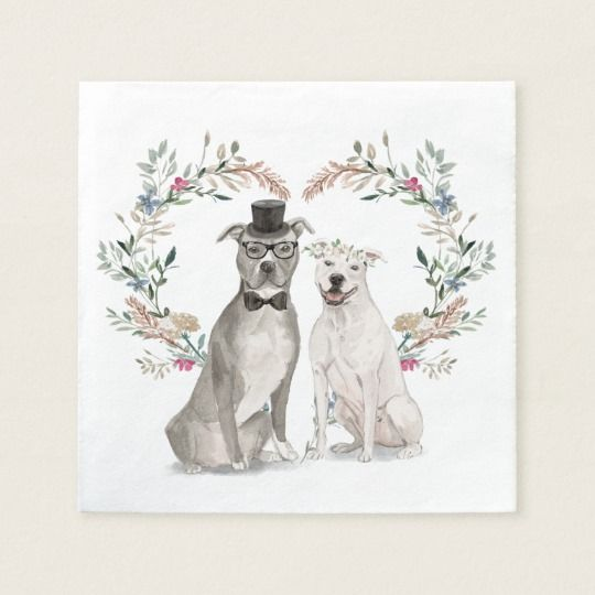 Wedding pups napkins