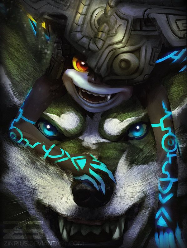 Legend of Zelda: Twilight Princess - Midna / Link by Zinrius on DeviantArt