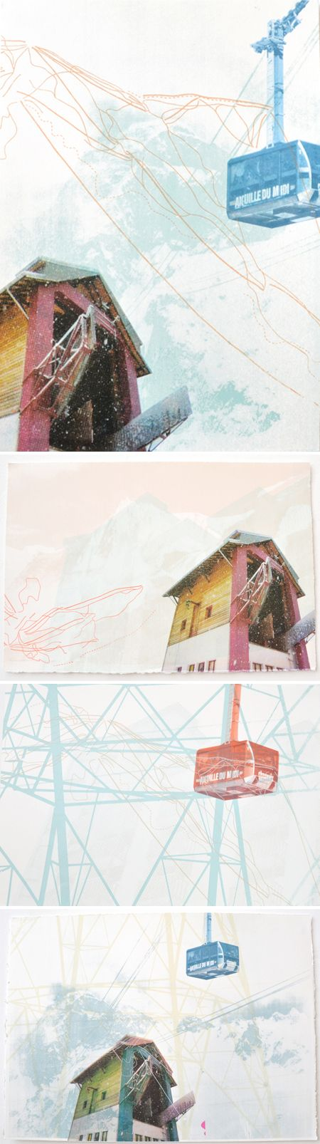 "emily moore - screenprints from ""chamonix"" series"