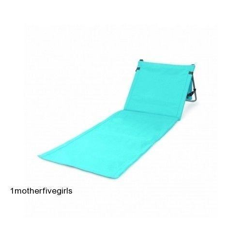 Reclining Padded Beach Mat Portable Chair Light Weight Outdoor Lounger Pool Blue