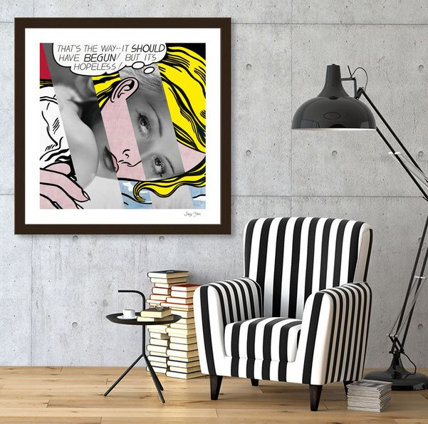 Discover «Roy Lichtenstein's Hopeless & Bette Davis», Exclusive Edition Fine Art Print by Luigi Tarini - From $25 - Curioos
