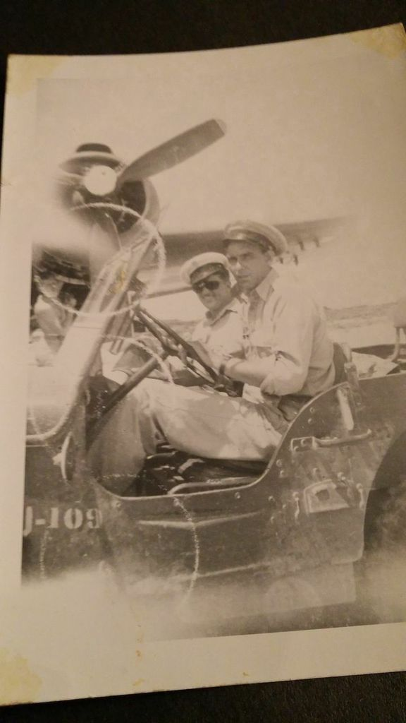 World War II   Tinian island in the Pacific  My grandfather is driving