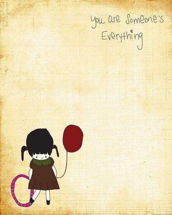 8x10 Illustration Art Print - Someone's Everything - Nursery, Baby, Children, Love, Mother