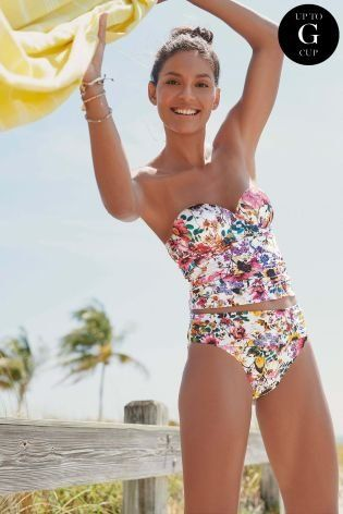 007f5395a1e7ea White Floral Underwired Tankini Top | Next | Holiday Swimwear in ...