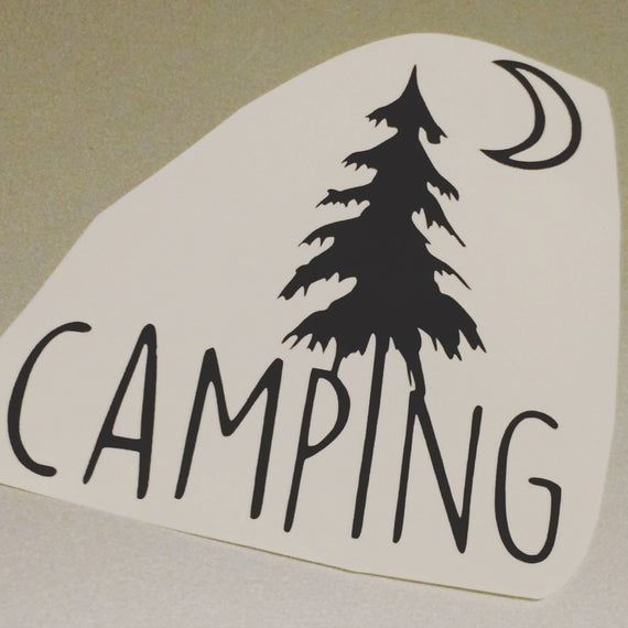 Camping Vinyl Decal Vinyl Stickers Camping Laptop Decal Camping Car Sticker Camping Vinyl Design Camping Car Decal By Luna In 2020 Vinyl Decals Vinyl Art Vinyl Sticker