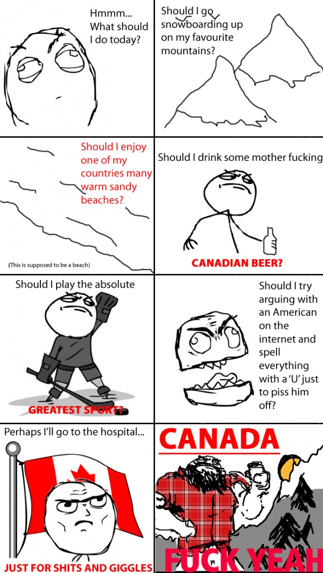 Pardon the profanity, but as a Canadian, this is just too funny not to pin...