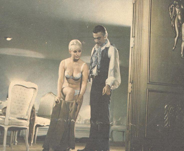 """Irma Lozano con Mauricio Garcés en """"Modisto de señoras"""" filmada en 1968"""