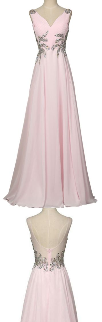 1940s style gown, chiffon pink