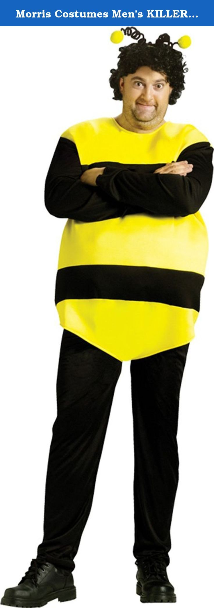 Morris Costumes Men's KILLER BEES STANDARD. From the hilarious Saturday Night Live sketches! Bee stripe tunic, pants, and antennae headband. Fits up to 6ft, 200lbs.