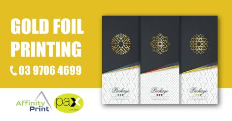Gold foil printing can be applied to the majority of paper stocks and we have used gold foil on all types of stationery, business cards, folders and invitations in Melbourne. #GoldFoilPrinting #FoilPrinting