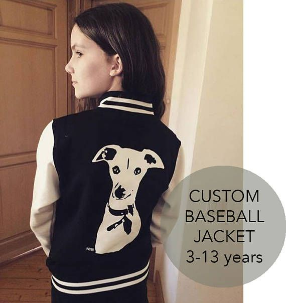 Personalised Kids Jacket Custom Kids Baseball Jacket Varsity