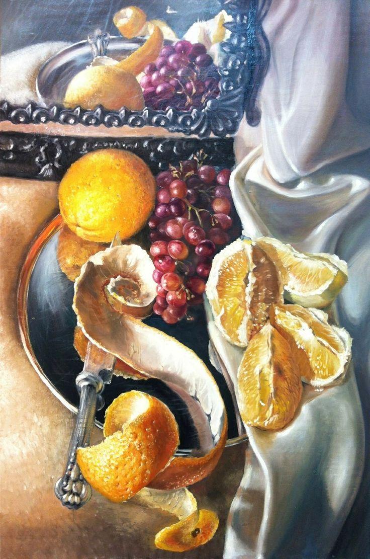 Studio Daf, fine art school and gallery in Kfar Saba Israel. Grapes with the mirror. Victor Hugot