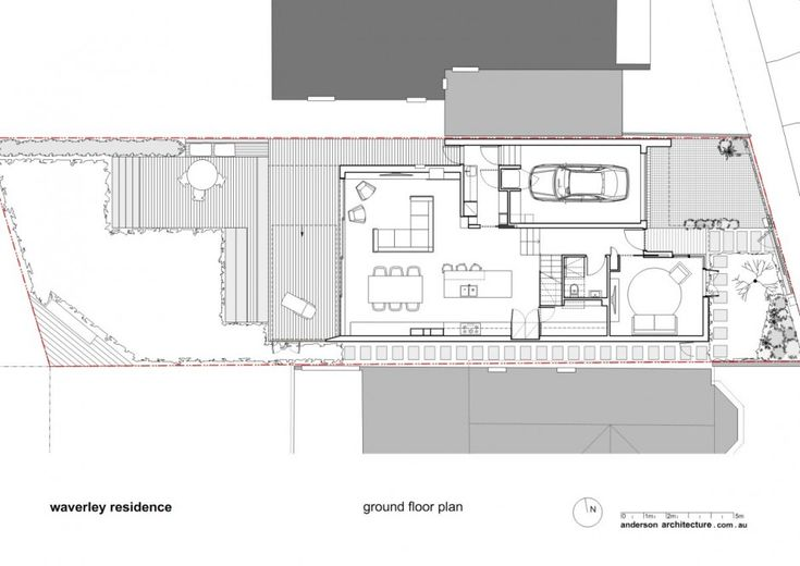 Waverley Residence by Anderson Architecture _first floor plan