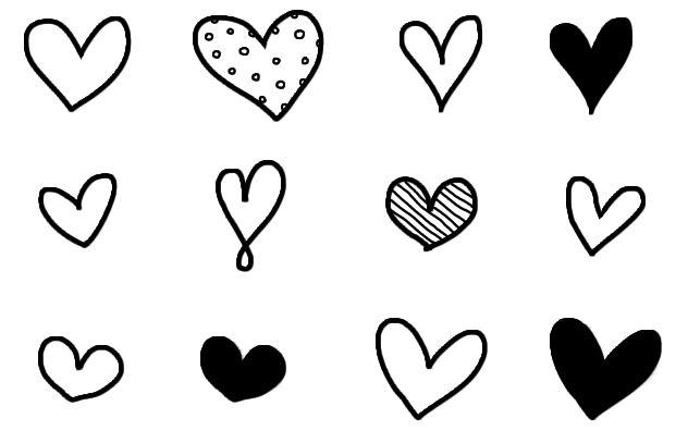 heart doodle - Cerca con Google