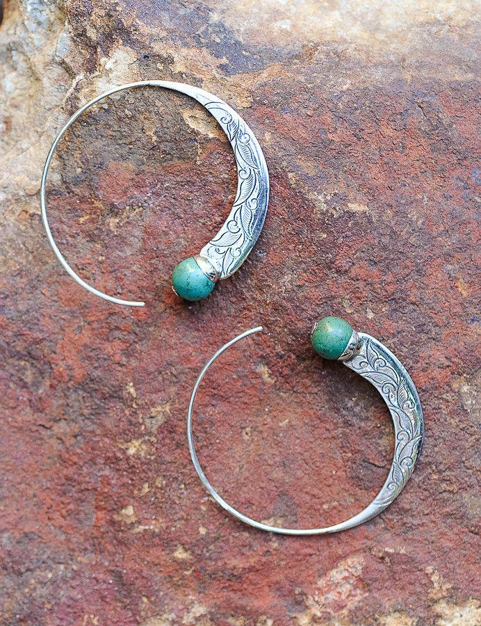 Capricorn Hoop Earrings