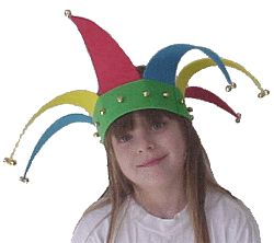 craft foam jester's hat ,every knight needed a jester to make him laugh