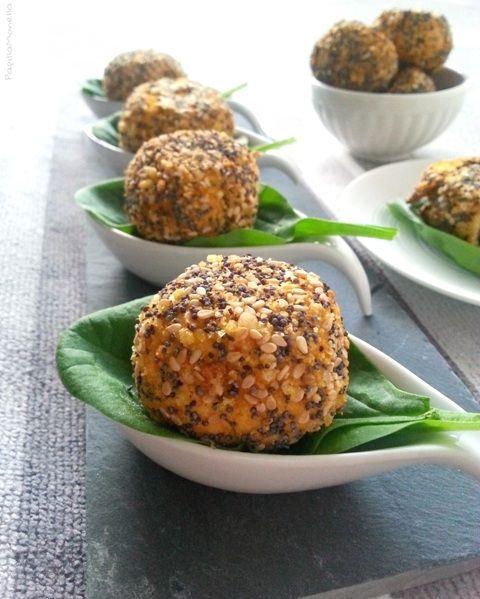 Polpette veggie di tofu e zucca cotte al forno    Una delizia #vegana #light e golosa, sana e davvero super gustosa