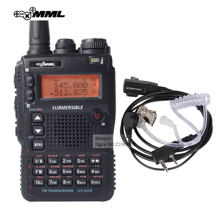 MML UV-8DR Tri-Band UHF VHF Handheld Two Way Radio Station Best Long Range Walkie Talkie with Headset CB Walky Talky Transceiver