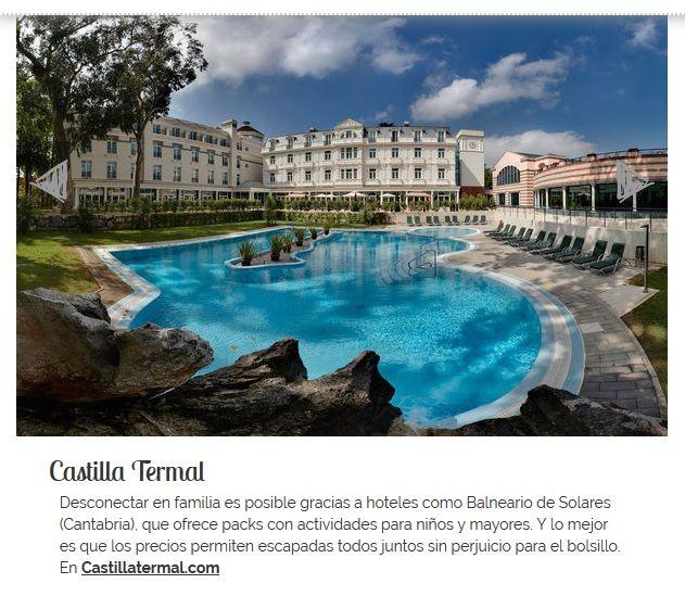 ¿Planificando las vacaciones de Semana Santa? #CastillaTermalBalneariodeSolares es una de las direcciones secretas para madres recomendadas por CrecerFeliz.es 👏 #vacaciones #hotel #niños #familia #Cantabria #SemanaSanta
