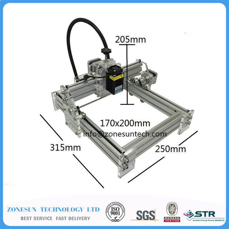 Laseraxe 405nm 2500mW DIY Desktop Mini Laser Engraver Engraving Machine Laser Cutter Etcher 17X20cm Adjustable Laser Power