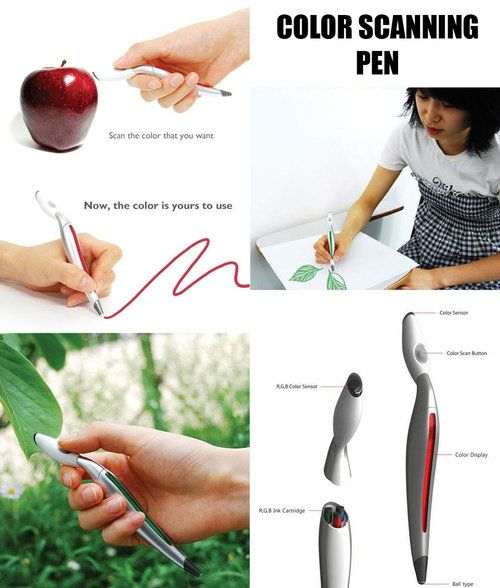 Color scanning pen for precise color match