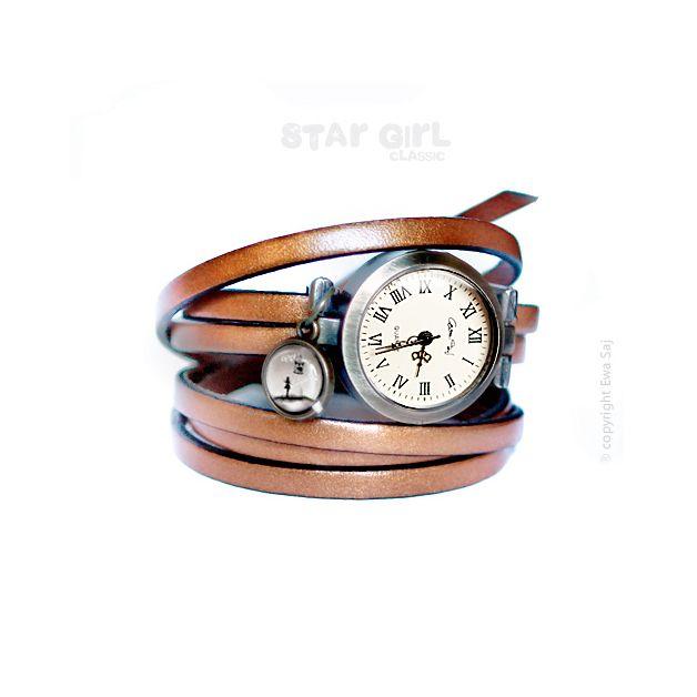 Star Girl i Kiwi - bransoletka zegarek - Ewa-Saj - Zegarki na rękę