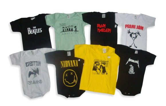 Por apenas R$19,90 a unidade de cada body!  Body - Nirvana e outras estampas R$ 19,90  ou 4x de R$ 5,34 no cartão