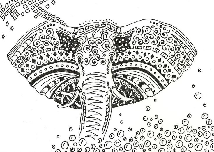 Adult Africa Elephant Coloring Pages Printable And Book To Print For Free Find More Online Kids Adults Of