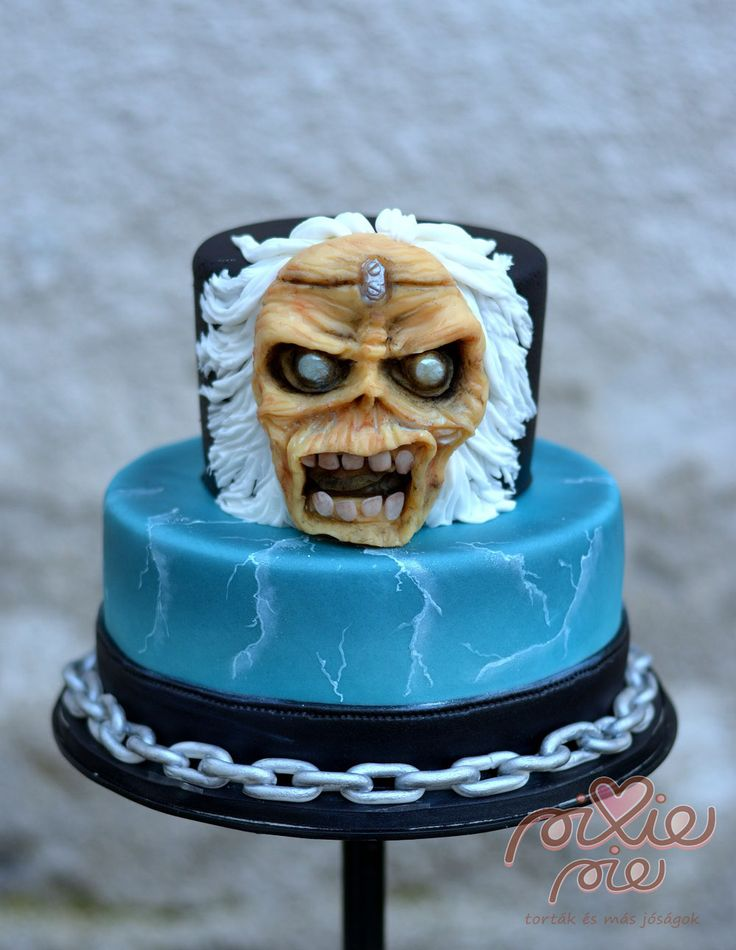 Image result for iron maiden cake ideas