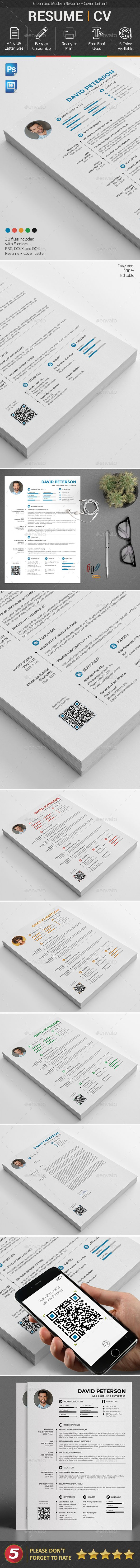88 Best Cv Images On Pinterest Resume Templates Cv Template And