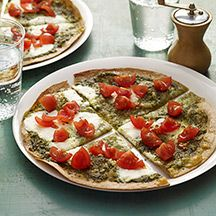 Pesto, Ricotta and Tomato Tortilla Pizza by Weight Watchers: 8 points plus