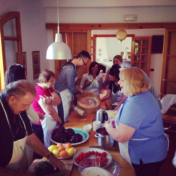 Cooking group Taormina Sicily