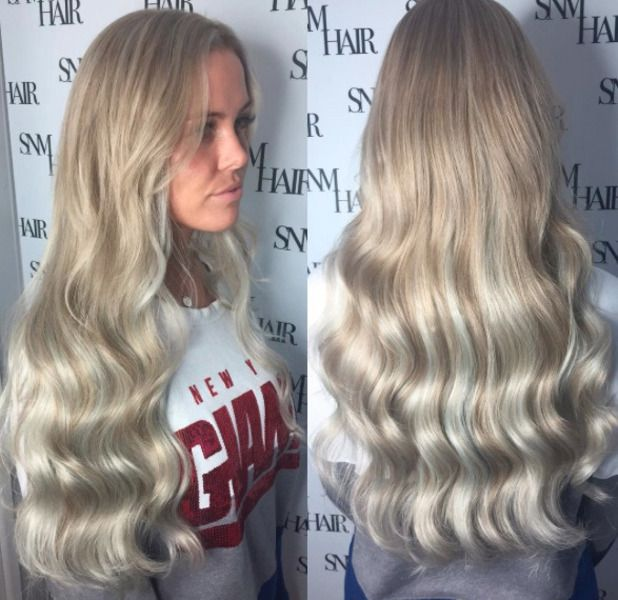 36 best celebs with hair extensions images on pinterest hair towie star chloe meadows shows off her new princess inspired hair extensions pmusecretfo Image collections