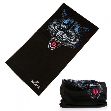 Csősál, farkasfej - wolf tube scarf