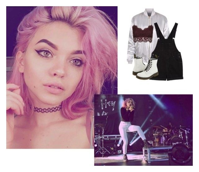 """""""hanging with cal//ootd"""" by anons-are-us ❤ liked on Polyvore featuring Monki, Topshop and Dr. Martens"""