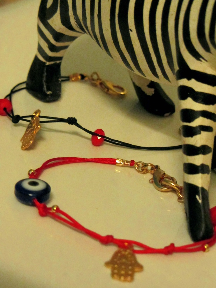 Black and Red lucky bracelets