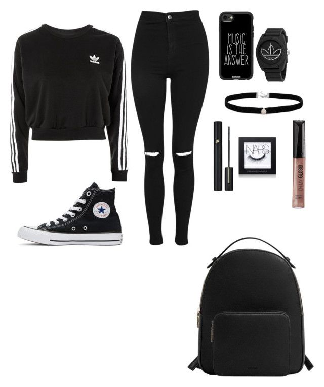 How to wear converse by natasa-maria-marijan on Polyvore featuring polyvore, adidas, Topshop, Converse, MANGO, Amanda Rose Collection, Casetify, NARS Cosmetics, Rimmel, Lancôme, fashion, style and clothing