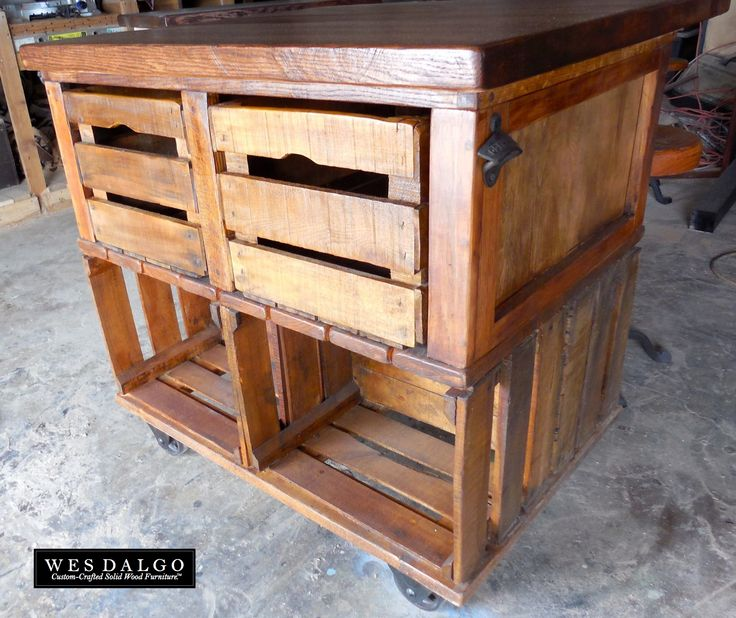 Urban Industrial Age Kitchen Warehouse Cart Island By: 21 Best Images About Crates On Pinterest