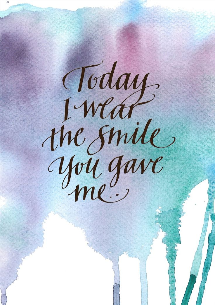 "Poster ""Today I wear the smile You gave me"" by Folkelind Form"