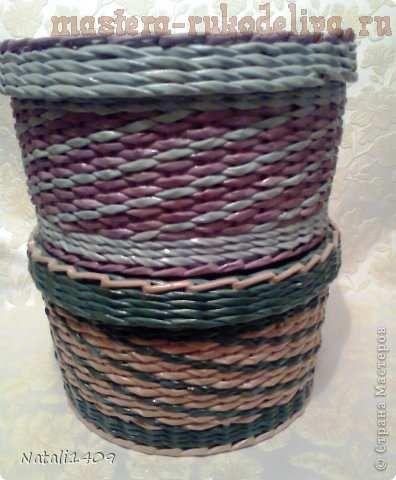 Мастер-класс по плетению из газет: Два узора в одном - Узоры.Мастер-классы
