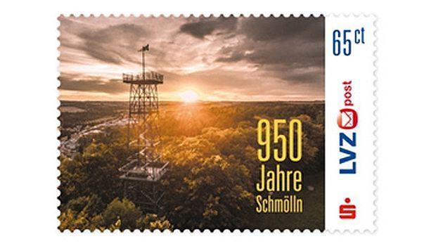 In diesem Jahr kann die Stadt Schmölln ihre urkundliche Ersterwähnung im Jahre 1066 feiern. Zu diesem 950 jährigen Jubiläum gratuliert die LVZ Post mit der Ausgabe einer Sondermarke. Die Briefmarke zu 65 Cent zeigt den 30 Meter hohen, eisernen Aussichtsturm…