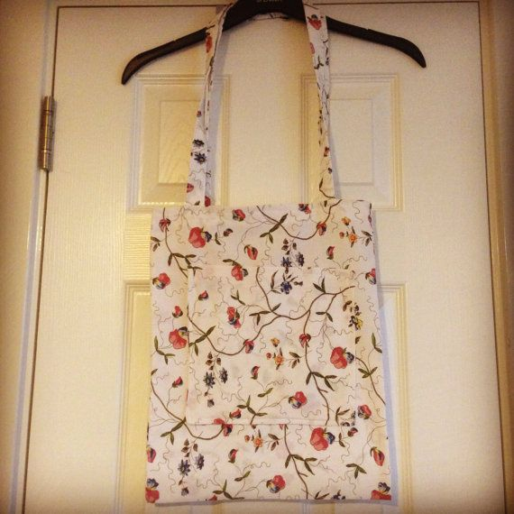 Flowers tote on Etsy, £10.00