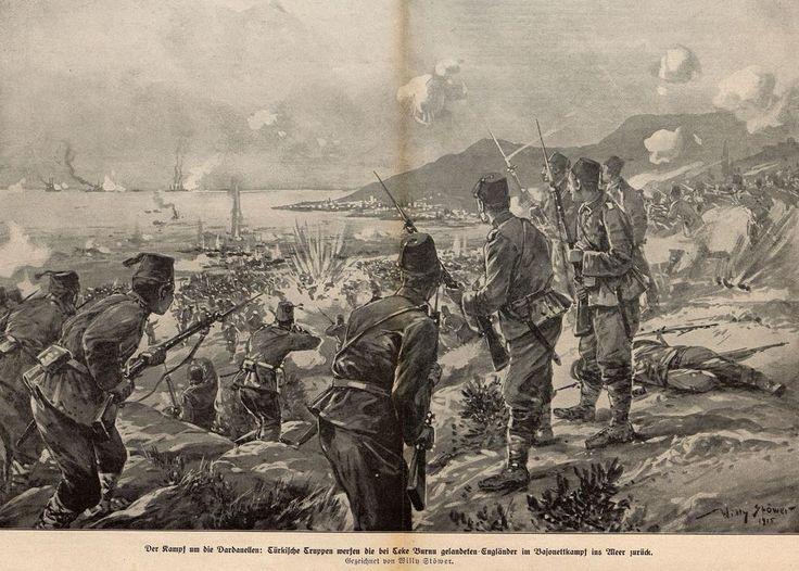 Ottoman Defense, Battle of Gallipoli, 1915 (Osmanlı Savunması, Çanakkale Cephesi, Teke Burnu, 1915) #OttomanEmpire