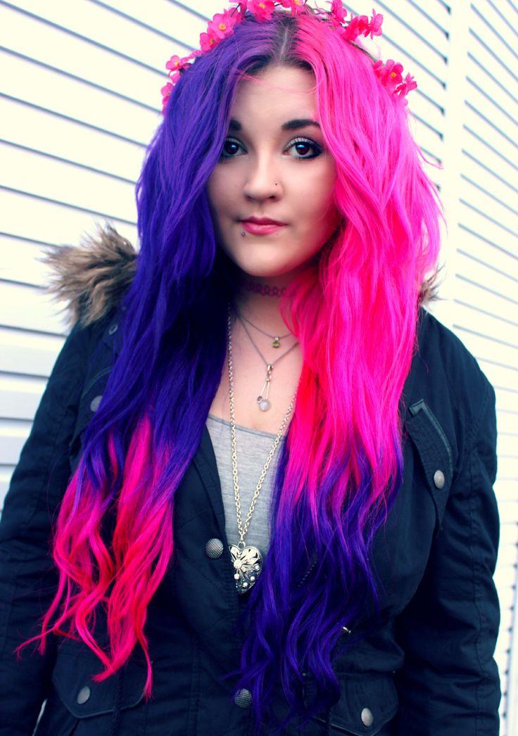 Best 25+ Half dyed hair ideas on Pinterest