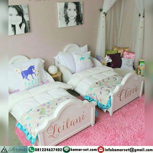 "Tempat Tidur Anak Kembar Klasik Modern   ➖➖➖➖➖➖➖➖ ➡ Info Pemesanan melalui :  BBM : 5CA7DED8  CALL : 081224627402  WhatsApp…"""