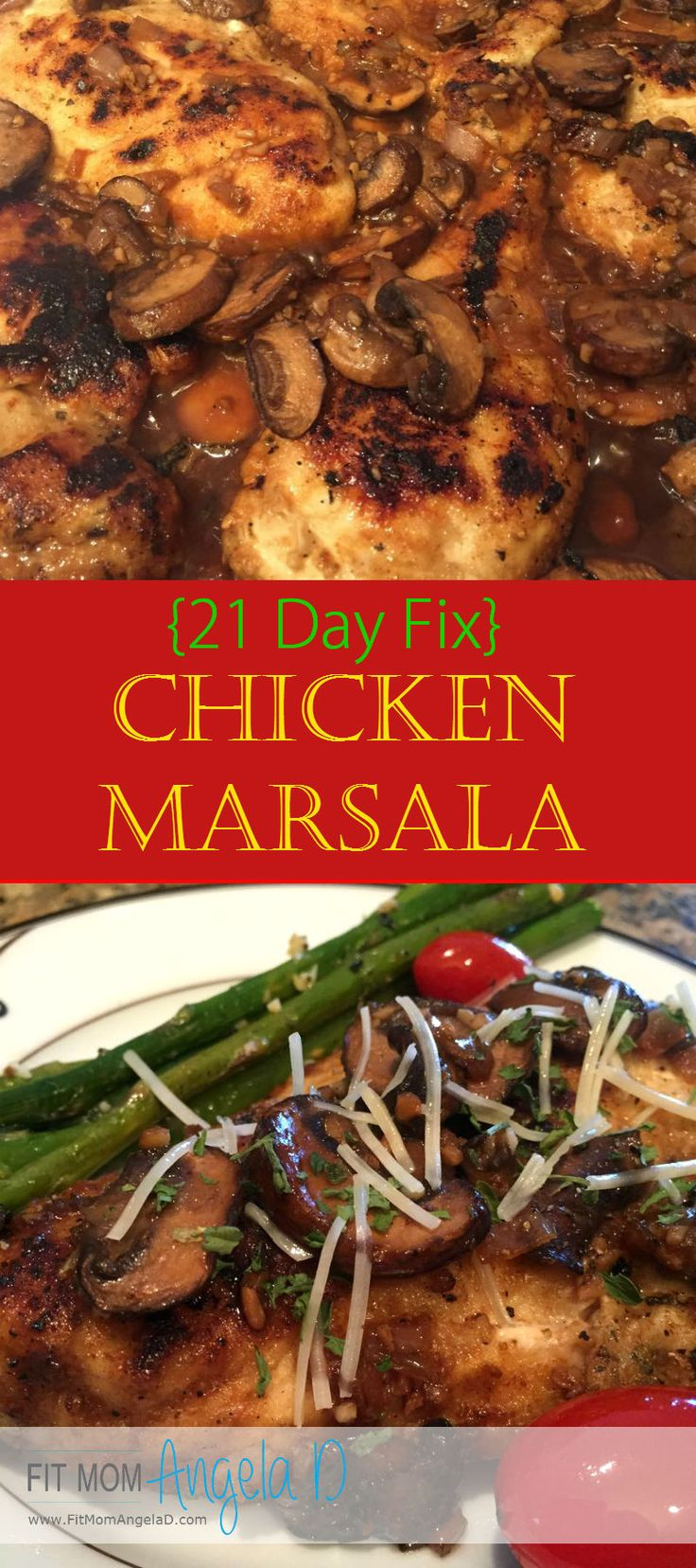 21 Day Fix Chicken Marsala | This meal was SO good - my husband and I both loved it and my house smelled AMAZING! | Healthy Dinner | Clean Eats | 21 Day Fix Approved | www.fitmomangelad.com