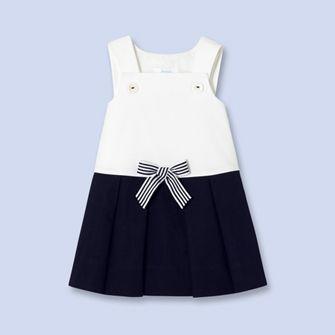 Two-tone sailor dress - Girl - NAVY BLUE - Jacadi Paris