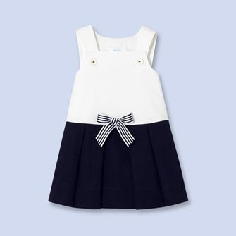 Two-tone sailor dress - Girl - NAVY BLUE - Jacadi Paris