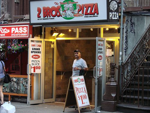 great pizza, great street, great neighbourhood ..St. Marks Place, NYC